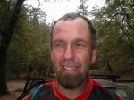 Club president Tim Daniels ran into Sashquatch on the trail.